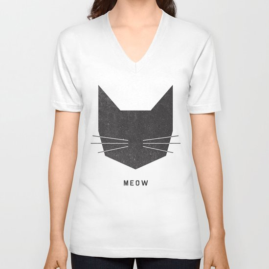 MEOW V-neck T-shirt