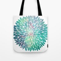 Watercolor Flower Tote Bag