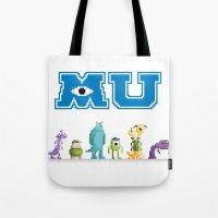 Pixel Monsters University Tote Bag