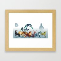 Pokemon-Eevee Framed Art Print