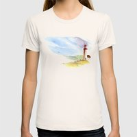 Lighthouse Impressions Womens Fitted Tee Natural SMALL