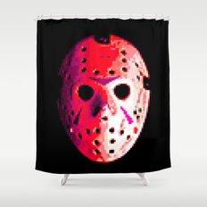 CAMP PIXEL LAKE Shower Curtain