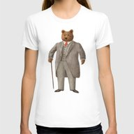 Mr. Bear Womens Fitted Tee White LARGE