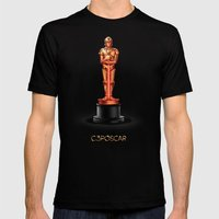 C3POscar Mens Fitted Tee Black SMALL