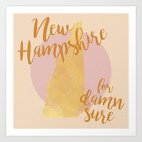 New Hampshire for Damn Sure Art Print