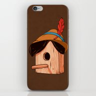 iPhone & iPod Skin featuring Woodpecker´s House by Benjamin Castle