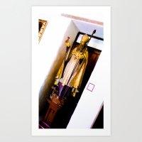 Religious statue. Art Print