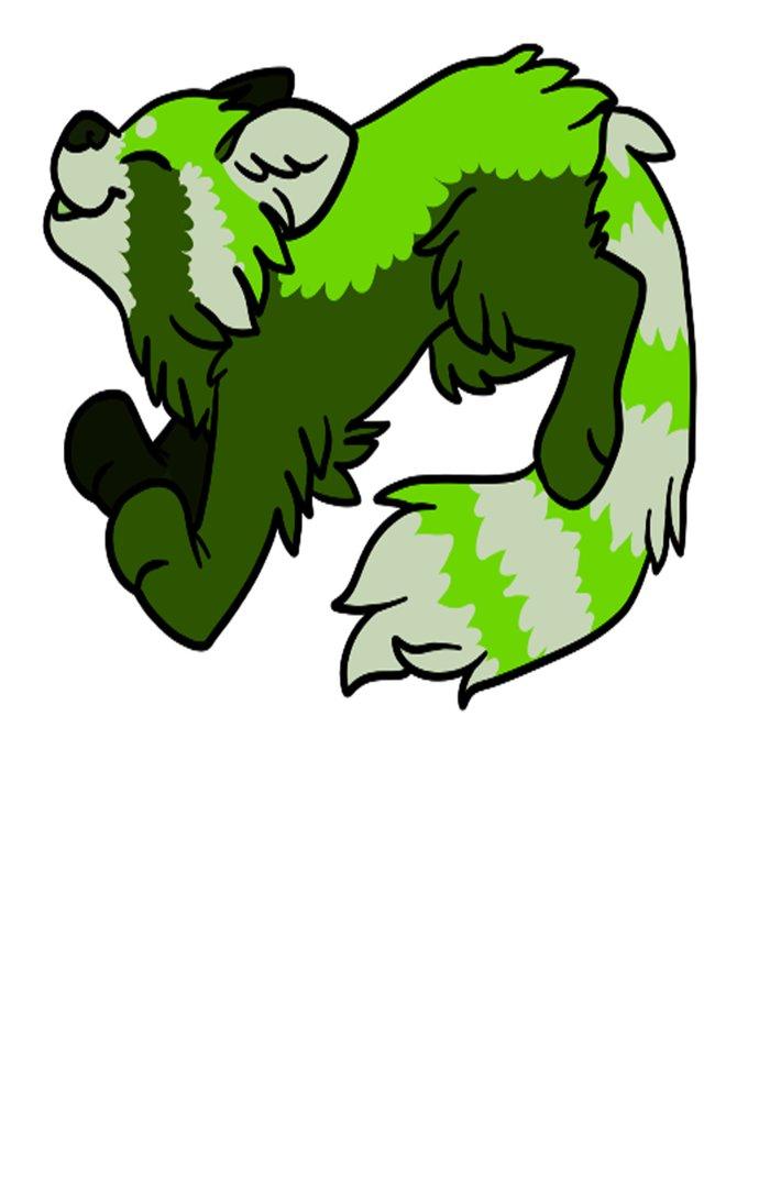 Green Panda Art Print by Santi | Society6  Green Panda Art...