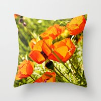 Poppy Field Throw Pillow