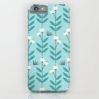iPhone & iPod Case featuring Blue Blooms by Elizabeth Olwen