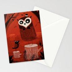 La Chouette et le Corbeau Stationery Cards