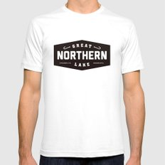 Great Northern Lake SMALL Mens Fitted Tee White