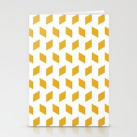 rhombus bomb in mimosa Stationery Cards