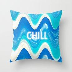 CHILL BEACH WAVE Throw Pillow
