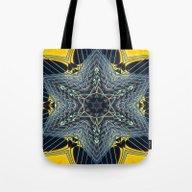 Guitar Kaleidoscope Tote Bag