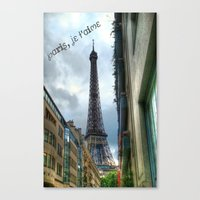 paris, je t'aime Canvas Print