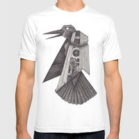 Robot bird Mens Fitted Tee White SMALL