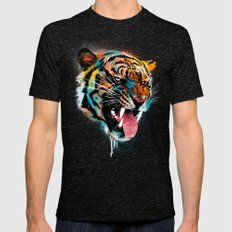 FEROCIOUS TIGER Mens Fitted Tee Tri-Black LARGE