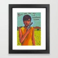 Son of a Gun Framed Art Print