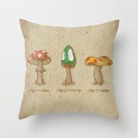 Mario Mycology Throw Pillow