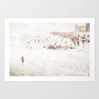 Coney Island 2014 - Beac… Art Print