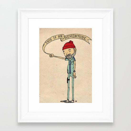 """""""THIS IS AN ADVENTURE."""" - Zissou Framed Art Print"""