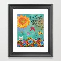 The World Laughs In Flow… Framed Art Print