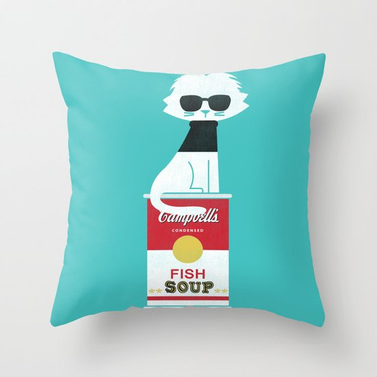 Mark The cat who Loves Andy Throw Pillow