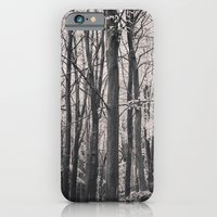 iPhone & iPod Case featuring Deep in Woodland - Black and White Collection by Black and White Collection