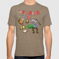 ♥ EVIL DEAD 2 ♥ Mens Fitted Tee Tri-Coffee SMALL