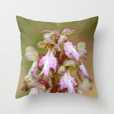 Wild Orchid Barlia Robertiana 408 Throw Pillow