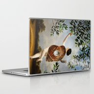 Laptop & iPad Skin featuring The Girl That Never Left… by Paula Belle Flores