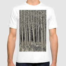 Cottonwoods White SMALL Mens Fitted Tee
