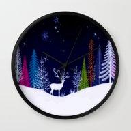 Snowy Night Wall Clock