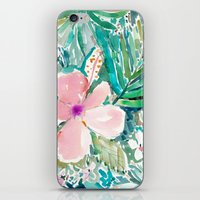 PALE PINK HIBISCUS iPhone & iPod Skin