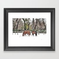 Colts Neck Snow Framed Art Print