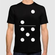Domino Mens Fitted Tee Black SMALL
