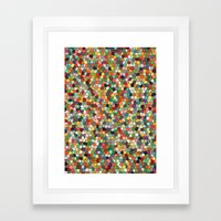 Patchwork Of Colors Framed Art Print
