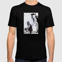 Rooster Man Mens Fitted Tee Black SMALL
