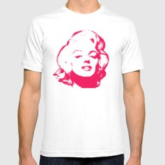 MARILYN POP White SMALL Mens Fitted Tee