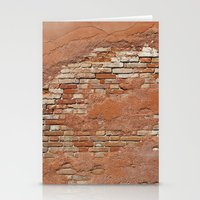 Orange Brick Wall Stationery Cards