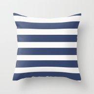 NAVY Nautical Throw Pillow