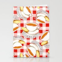 Cup of Tea, a Biscuit and Red Gingham Stationery Cards