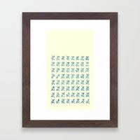 LCD teal Framed Art Print