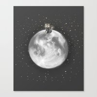Lost In A Space / Moonel… Canvas Print