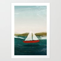 The Boat That Wants To F… Art Print