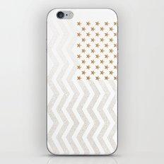 GOLD Stars & Stripes iPhone & iPod Skin
