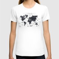 T-shirt featuring The World Map by Mike Koubou