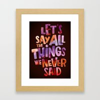 All The Things Framed Art Print