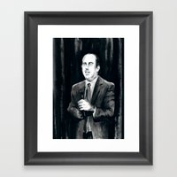 DARK COMEDIANS: Jerry Seinfeld Framed Art Print